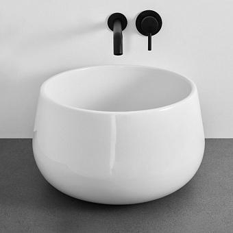 Cielo Tino&Tina Раковина накладная 45xh26 см, круглая, цвет: белый глянец