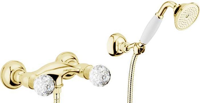 Смеситель для душа Webert Karenina КА760101 Золото/кристаллы Swarovski