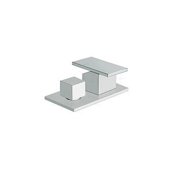 Cristina Tabula Смеситель для ванны с переключателем на 2 выхода, цвет: хром