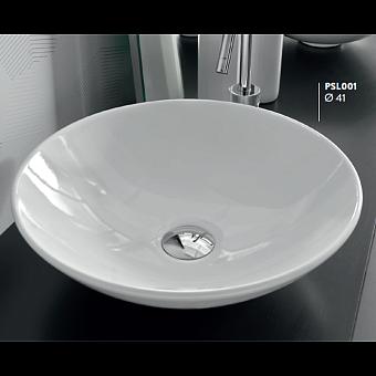 Artceram POLIS Раковина накладная круглая d41 см, цвет белый, без отв под смеситель, без перелива.