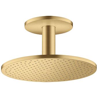 Axor  ShowerSolutions Верхний душ, Ø 30см, 2jet, с держателем 10см, потолочный монтаж, цвет: шлифованное золото