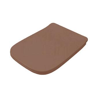 Artceram A16 Сиденье для унитаза с микролифтом, цвет: Brown tortora/хром