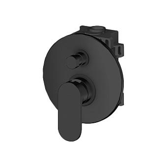 Gattoni H2Omix7000 Смеситель для душа, встраиваемый, на 2 выхода с коробкой GBOX, цвет: черный матовый