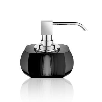Decor Walther Kristall SSP Дозатор для мыла, настольный, хрустальное стекло, цвет: антрацит / хром