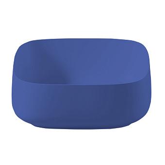 Artceram COGNAC Раковина Quadro 46x41 см, настольная, цвет: blu zaffiro
