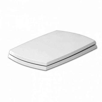 Artceram JAZZ сиденье для унитаза белое матовое,  шарниры хром (микролифт)
