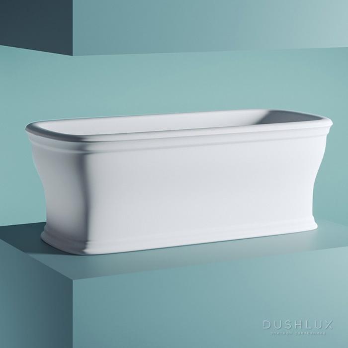 Artceram Neo Ванна отдельностоящая, 180х85хh65см, с переливом и слив.крышкой, Livingtec, цвет: белый матовый