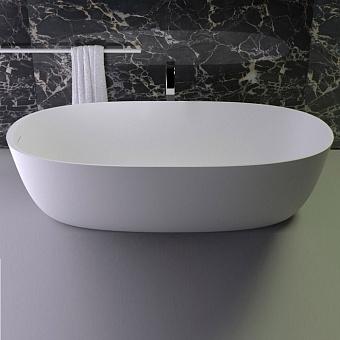 KNIEF Prime ванна отдельностоящая овальная 180х85xh50 cm, со слив переливом, цвет: белый матовый