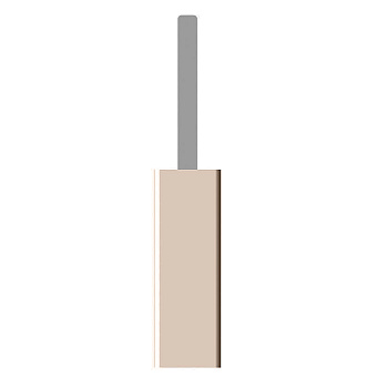 Bertocci Fly Ерш напольный из композита, цвет: бежевый/хром