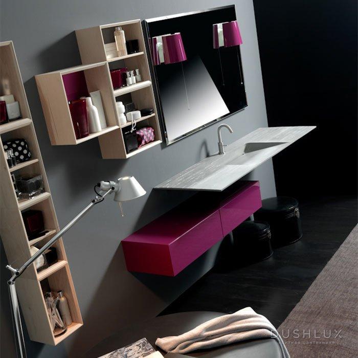 Karol KS comp. №3, комплект подвесной мебели 160 см. цвет: Цемент