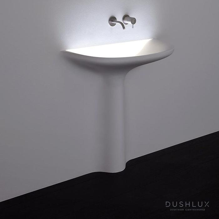 Antonio Lupi Calice Раковина  встраиваемая в стену, 48х90см, с LED подсветкой, цвет: белый