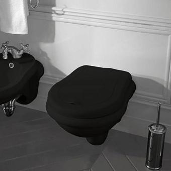 KERASAN Retro Унитаз подвесной 52*38см, цвет черный глянцевый