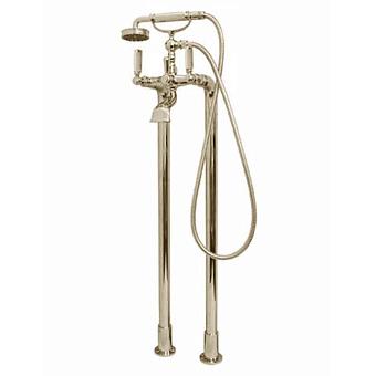"""Bossini Liberty Смеситель для ванны, напольный, высота 890 мм, душ лейка Liberty шланг латунь, 150 см ½""""FF,  цвет: никель матовый"""