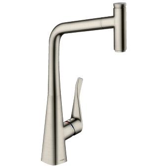 Hansgrohe Kitchen M7115-H320 Metr.Sel.320 смеситель с изливом для кухни, цвет: сталь