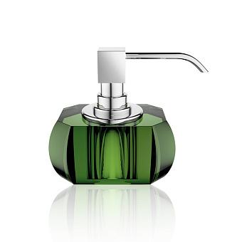 Decor Walther Kristall SSP Дозатор для мыла, настольный, хрустальное стекло, цвет: английский зеленый / хром