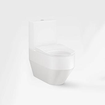 Armani Roca Baia Унитаз моноблок 56x38x41см безободковый, слив горизонтальный, цвет: off-white