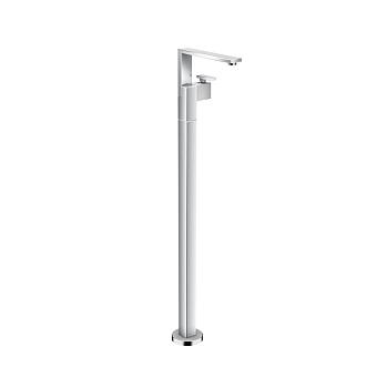 Axor Edge Смеситель для раковины, напольный, с донным клапаном push/open, излив 235мм, алмазная огранка, цвет: хром