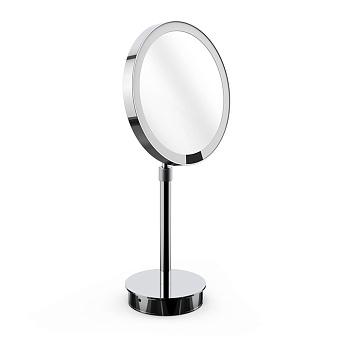 Decor Walther Round Just Look SR Косметическое зеркало 21.5x44см, настольное, увел. 5x, подсветка LED, цвет: хром