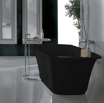 Globo Relais Ванна отдельностоящая 185x85x58 см, цвет: черный глянец