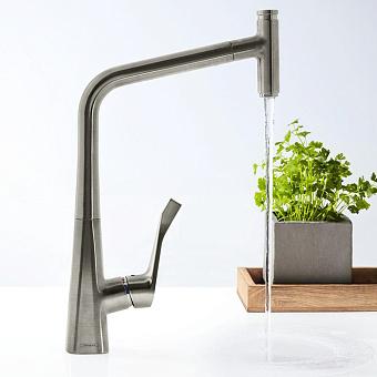 Hansgrohe Metris Select, Смеситель для кухни, с выдвижным душем, Цвет: хром