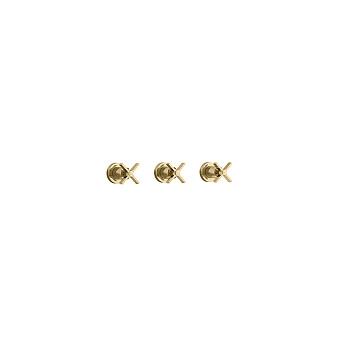 Cristina Cross Road Смеситель для ванны/душа с переключателем на 3 выхода, встраиваемый, цвет: золото
