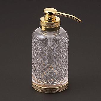 Cristal et Bronze Prestige Дозатор для жидкого мыла с рифленым стеклом, цвет: золото