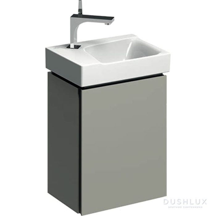 Geberit Xeno² Тумба с раковиной 38х52.5х26.5см, с 1 отв., подвесная, с одной дверью, цвет: серый матовый