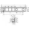 Hansgrohe RainSelect Смеситель для душа, встраиваемый, термостат на 3 переключателя, цвет: хром/белый