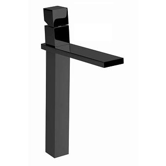 """Bossini Cube Смеситель для раковины на 1 отв., суперцвет:высокий с заглушкой 1""""1/4, цвет: черный матовый"""