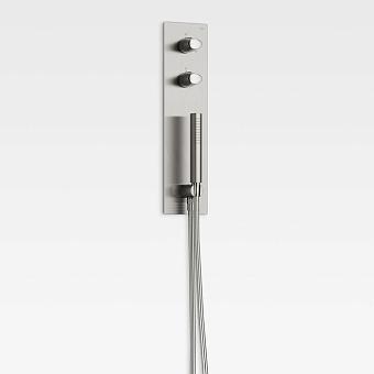 Armani Roca Island Комплект встр душ сист.: термостат на  2 источника, 2 форсунки (внешние части), цвет: brushed steel