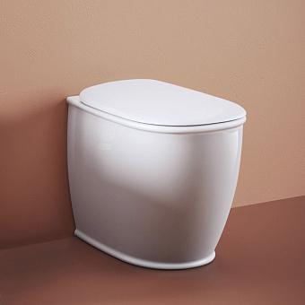 Artceram Atelier Унитаз напольный, 52х37хh42см, безободковый, слив универсальный, с крепежом, цвет: белый матовый