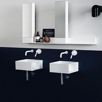 Agape Handwash Раковина подвесная 35x35x15 см, квадратная, без отв., цвет: белый