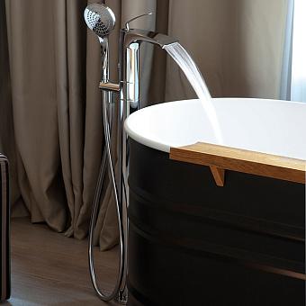 Cristina Bollicine Смеситель для ванны с ручным душем, напольный, цвет: хром