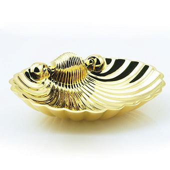 Cristal et Bronze Prestige Мыльница в форме ракушки 25 x 18 см, цвет: золото