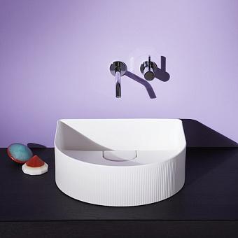 Laufen Sonar Раковина 410x365х130мм без перелива, без отв. под смеситель, с текстурой, цвет: белый матовый