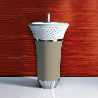 Falper George Раковина 58х58х87 см, 1 отв., напольная, цвет: песок