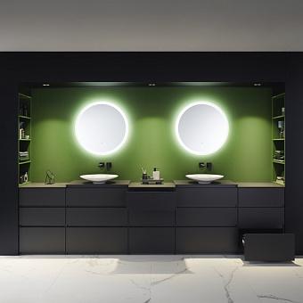 Burgbad Lin20 Комплект мебели 340х48.7х90см, напольный, с раковиной, с зеркалом, с 3 ящиками, цвет: Grey dark matt