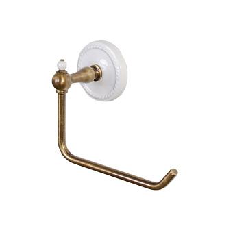 Devon&Devon DOROTHY держатель туалетного рулона настенный, цвет: бронза/белый