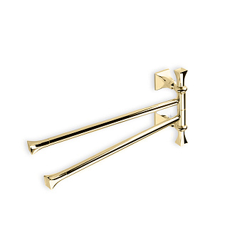 StilHaus Prisma Полотенцедержатель двойной, поворотный, подвесной, цвет: матовое золото