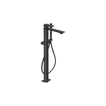 Cristina Profilo Смеситель для ванны с ручным душем, напольный, цвет: черный матовый