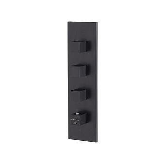 Noken Oxo Смеситель для душа, встраиваемый, с термостатом, а 3 выхода, цвет: черный