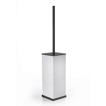 3SC Mood Deluxe Туалетный ёршик, напольный, композит Solid Surface, цвет: белый матовый/черный матовый