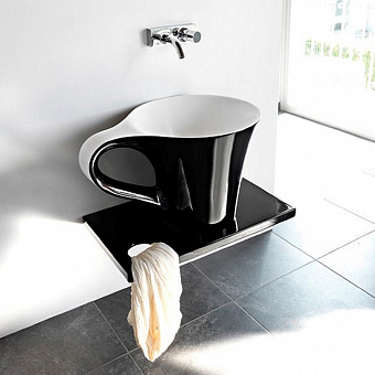 Artceram CUP Раковина накладная  70х50хh42.5 см, без отв., цвет черный/белый