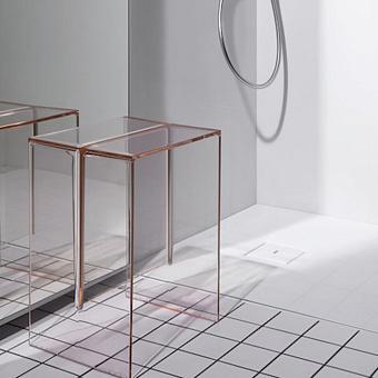 Laufen Kartell Табурет, 330х280х465мм, пластик, цвет: пудровый розовый