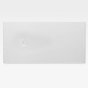 Armani Roca Baia Душевой поддон 200х100х3.2см с боковым сливом, с anti-slip, мат-л: Stonex, цвет: off-white