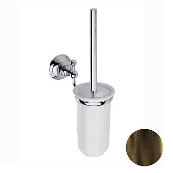 Nicolazzi Classica Туалетный ёршик настенный, цвет: тёмная бронза/белый