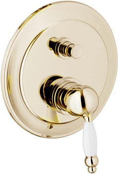 Смеситель для ванны Webert Dorian DO860101 Золото/белый