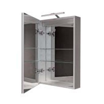 Noken Smart cabinets Шкаф подвесной с одной дверцей и двойным зеркалом с подсветкой 60x75x13,5 см.