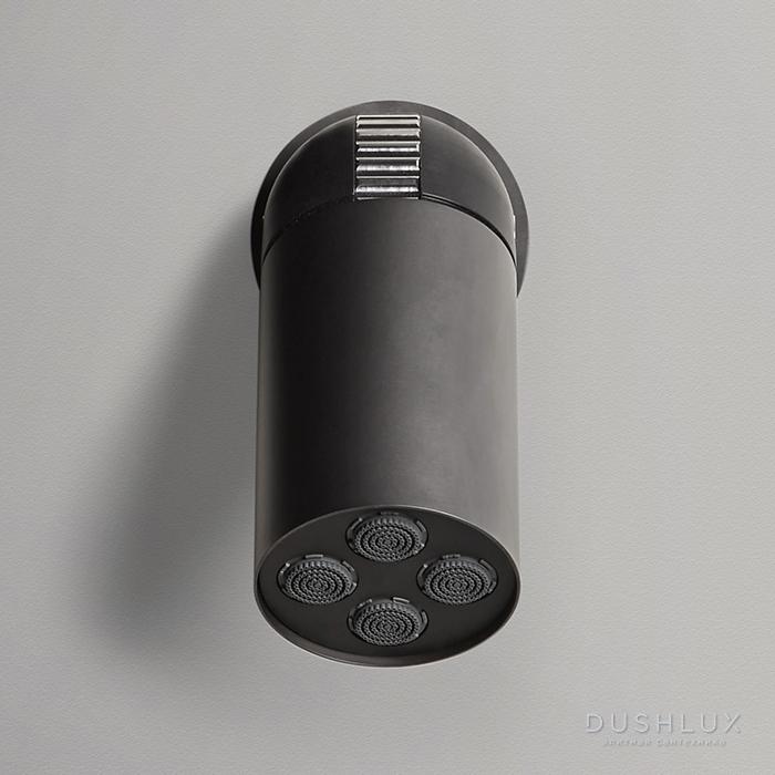 Antonio Lupi Azimut Настенная или потолочная душевая лейка, Ø 8см, с регулируемым потоком, цвет: графит