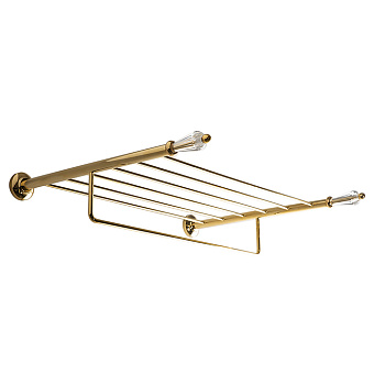 3SC Boheme Полочка 50х40см, с полотенцедержателем , цвет: золото 24к. opaco